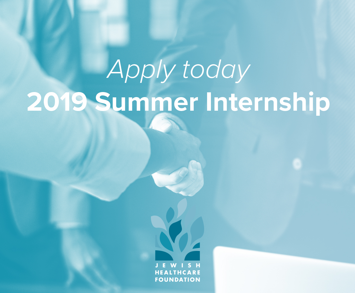 Intern at Jewish Healthcare Foundation this summer Image