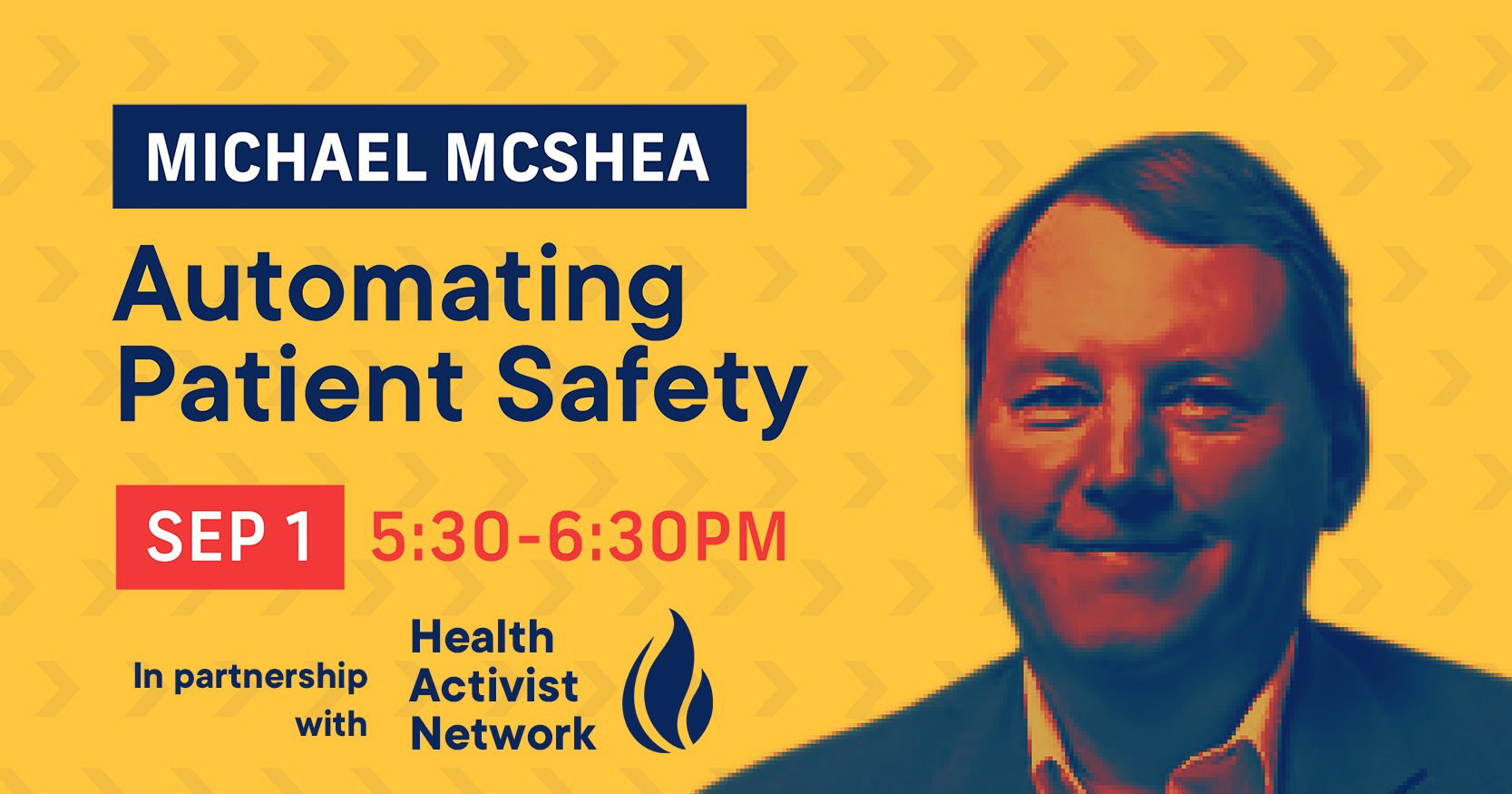 Automating Patient Safety with Michael McShea on Sept 1 Icon Image